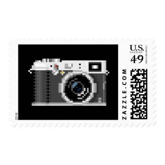 Retro Digital Camera Pixel Art Postage