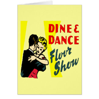 Retro Dine And Dance Greeting Cards