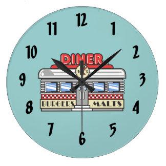 Retro DIner Round Clock