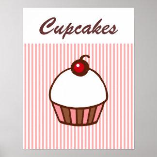 Retro Diner  Cupcake Poster