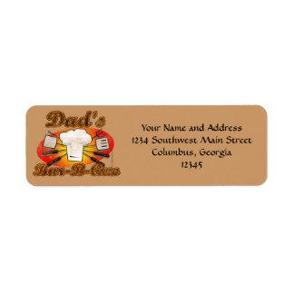Retro Diner, Dad's Bar-B-Que Label