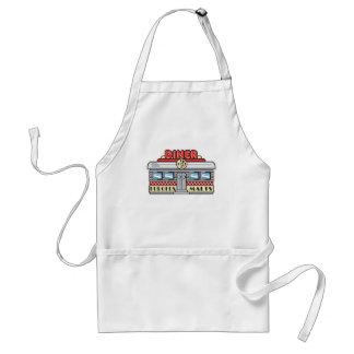 retro diner design adult apron