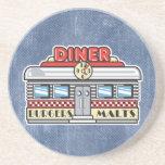 retro diner design beverage coaster