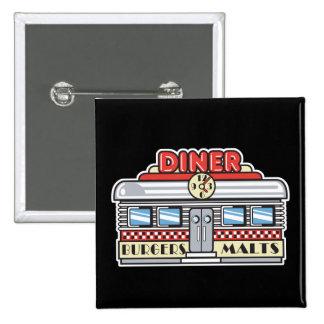 retro diner design button