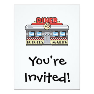 retro diner design card
