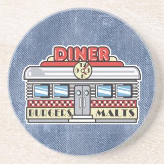 retro diner design coaster