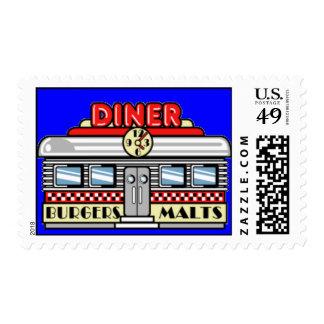 Retro Diner Postage