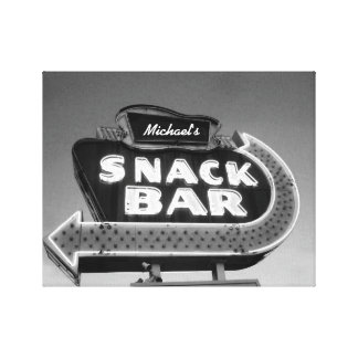 Retro Diner Sign customizable name black white