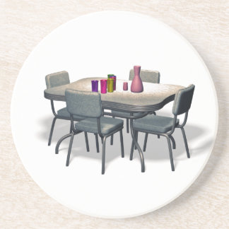 Retro Diner table and chairs Coaster