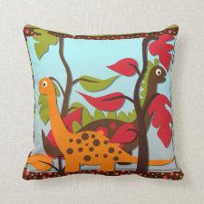 Retro Dinosaurs Pillow