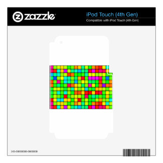 Retro Disco Colorful Squares iPod Touch 4G Skin