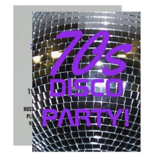 Retro Disco Dance Party | 70's Party Purple Card