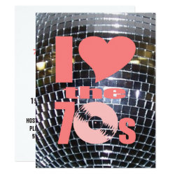 Retro Disco Dance Party   70's Party Vinyl Record Invitation