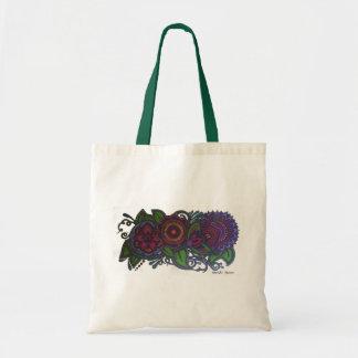 Retro, diseño floral del vintage bolsa tela barata