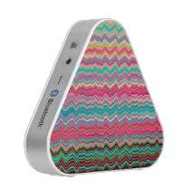 Retro distorted soundwaves pattern bluetooth speaker