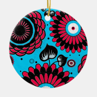 Retro Distressed Floral Pattern Double-Side Ornaments