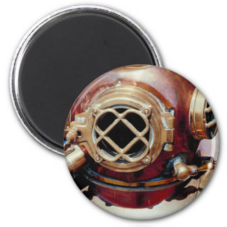 Retro Diving Helmet 2 Inch Round Magnet