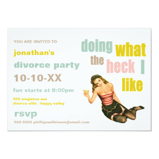 Retro Divorce Party Invitations