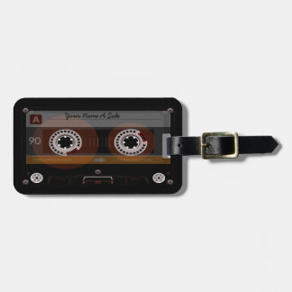 Retro DJ Music Cassette MixTape Lauggage Tag Tags For Luggage