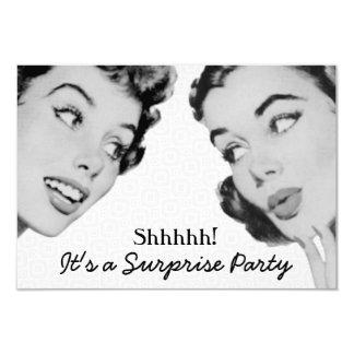 Retro Do Tell Surprise Birthday Party V2 Card