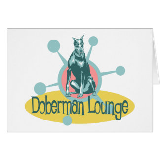 Retro Doberman Lounge Card