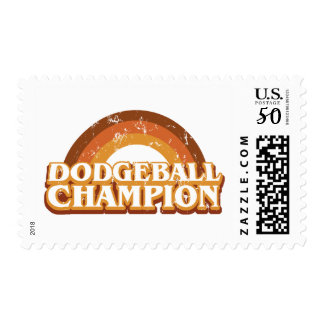 Retro Dodgeball Champion Custom Postage Stamp