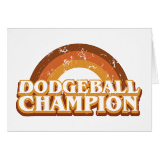 Retro Dodgeball Champion Greeting Card