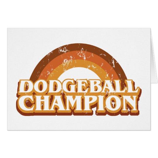 Retro Dodgeball Champion Greeting Card