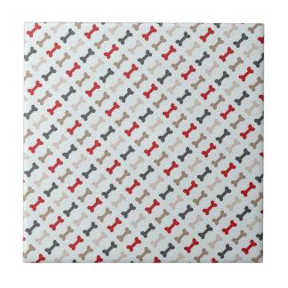Retro Dog Bone Pattern Tile