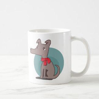 Retro Dog with a Red Scarf Coffee Mug