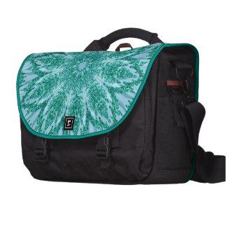 Retro Doily Teal Kaleidoscope Commuter Bag