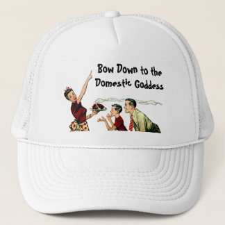 Retro Domestic Goddess Trucker Hat