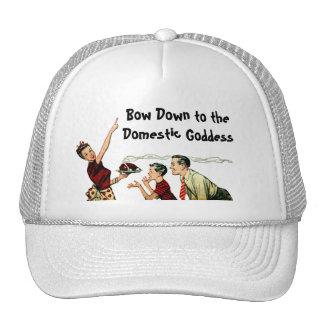 Retro Domestic Goddess Trucker Hat