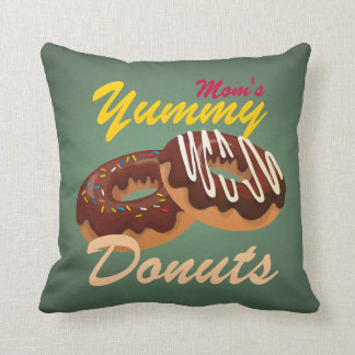 Retro donuts illustration pillow