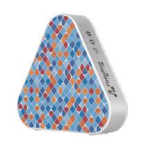 Retro dot check mosaic blue pattern speaker