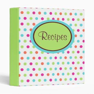 Retro Dot Recipe Binder