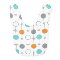 Retro Dots and Starbursts Baby Bib