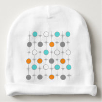 Retro Dots and Starbursts Baby Hat