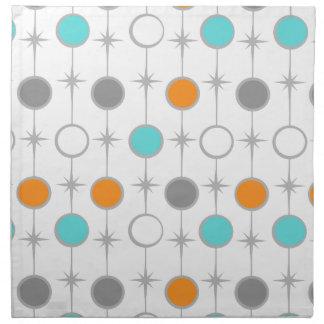 Retro Dots and Starbursts Cloth Napkin
