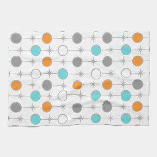 Retro Dots and Starbursts Kitchen Towel