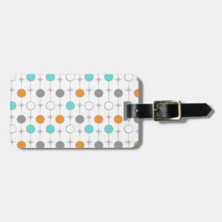 Retro Dots and Starbursts Luggage Tag