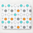Retro Dots and Starbursts Mousepad