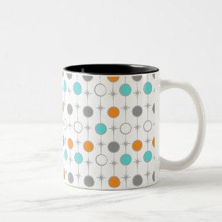 Retro Dots and Starbursts Mug
