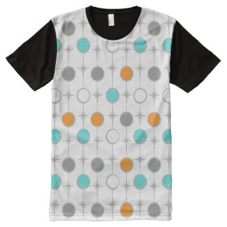 Retro Dots and Starbursts Panel T-Shirt