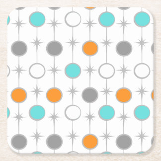 Retro Dots and Starbursts Paper Coaster