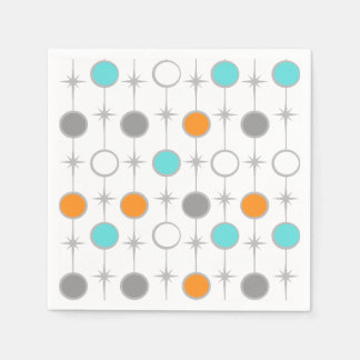 Retro Dots and Starbursts Paper Napkins