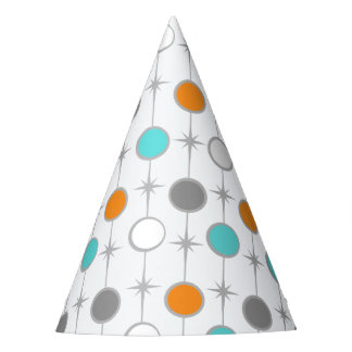 Retro Dots and Starbursts Party Hat
