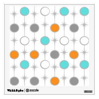 Retro Dots and Starbursts Wall Decal