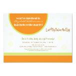 Retro Dots Bachelorette Party Invitation (orange)