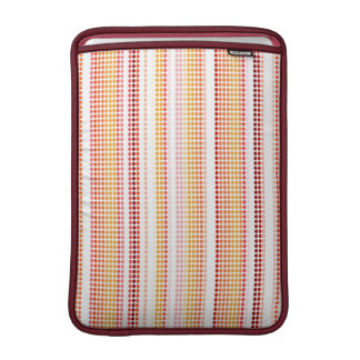Retro Dots Colorful Stripes Rainbow #2 MacBook Sleeve